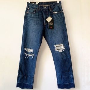 NWT Levi's 501 Distressed Released Raw Hem 30 x 28